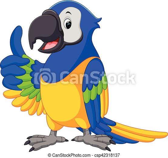 cute macaw cartoon - csp42318137