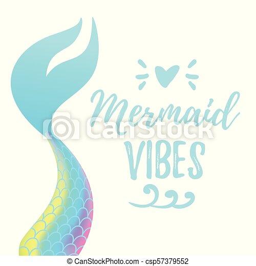 cute mermaid tail - csp57379552