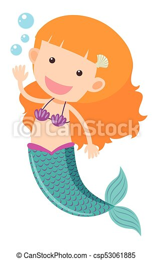 cute mermaid waving hand illustration vector search clip art rh canstockphoto com clipart mermaid diving into water clipart mermaid tail