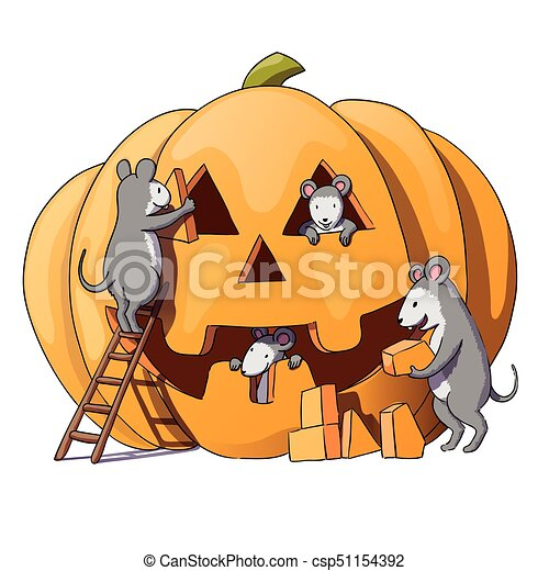 cute mice characters prepare for halloween sly gray mouse rat