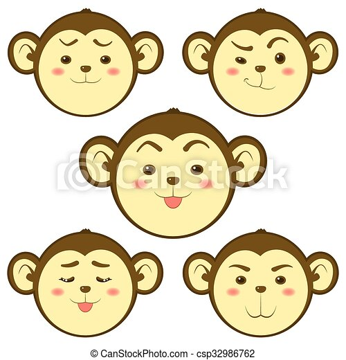 Cute Monkey - csp32986762