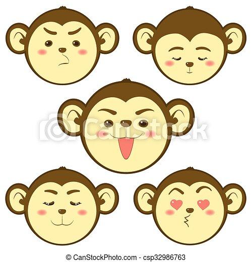 Cute Monkey - csp32986763