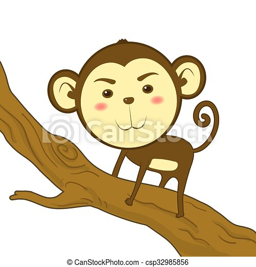 Cute Monkey - csp32985856