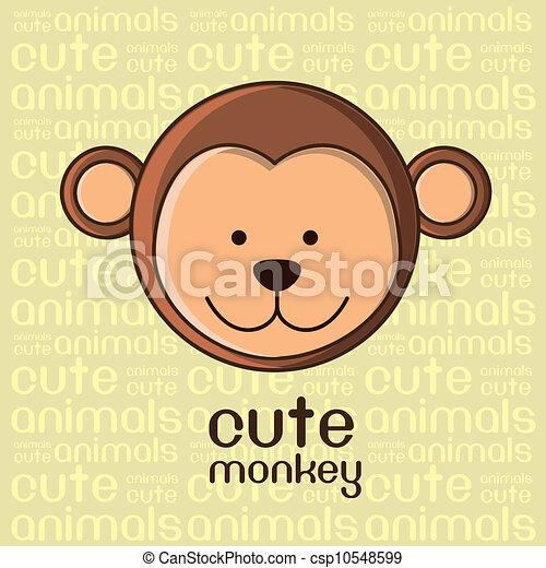 cute monkey - csp10548599
