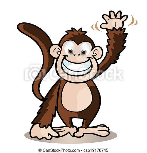 cute monkey - csp19178745