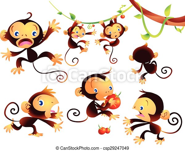 cute monkey - csp29247049