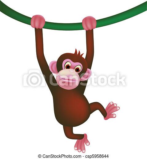 cute monkey  - csp5958644