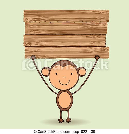 Cute monkey  - csp10221138