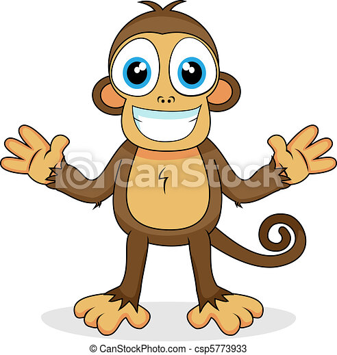 cute monkey   - csp5773933