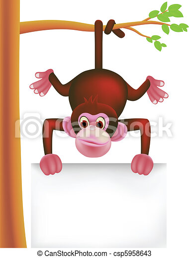 cute monkey  - csp5958643