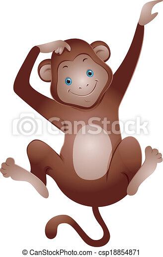 Cute Monkey - csp18854871