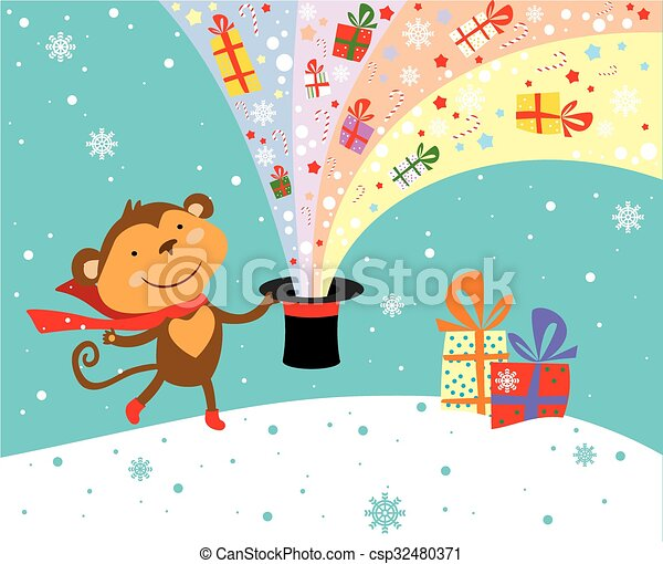 Cute monkey  - csp32480371