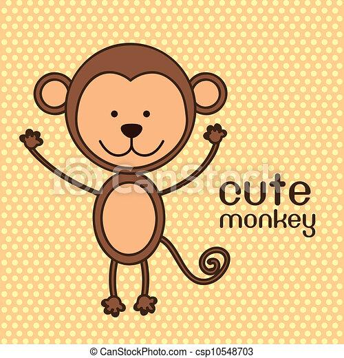 cute monkey - csp10548703