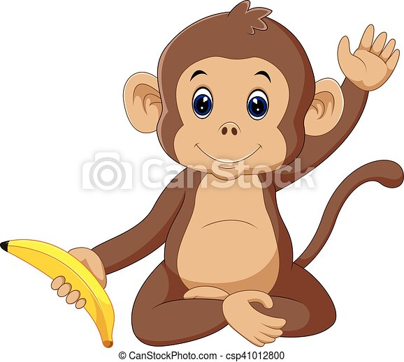 cute monkey - csp41012800