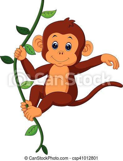 cute monkey - csp41012801