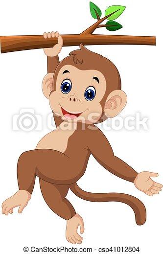 cute monkey - csp41012804