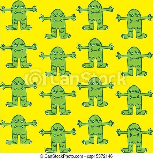 cute monster seamless pattern - csp15372146
