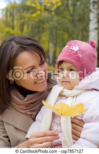 cute mother with daughter  - csp7857127