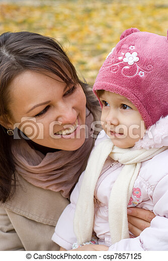 cute mother with daughter  - csp7857125