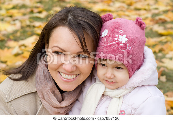 cute mother with daughter  - csp7857120