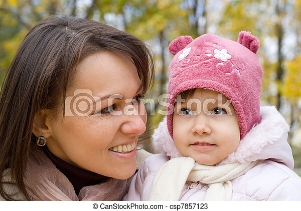 cute mother with daughter  - csp7857123