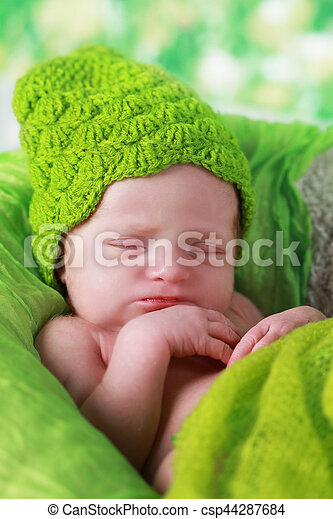08f02a51f Cute newborn baby girl sleeping. Cute baby girl sleeping.