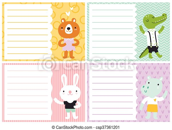 templates for note cards