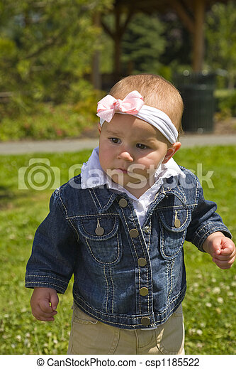 Cute One Year Old Outside - csp1185522