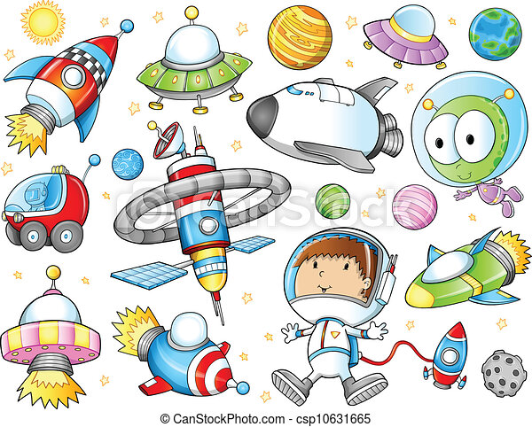 Cute Outer Space Vector Set - csp10631665