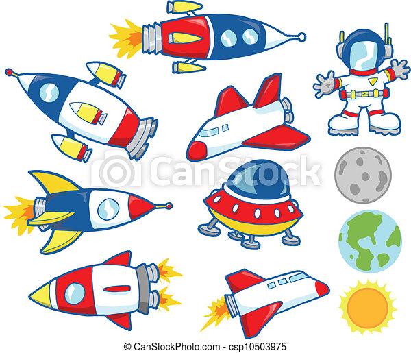 Cute Outer Space Vector Set - csp10503975