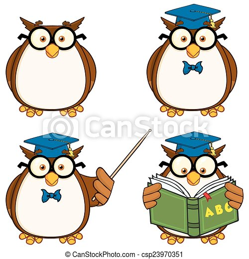 Cute Owl Character 2. Collection  - csp23970351