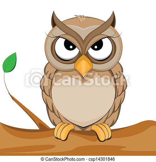 cute owl - csp14301846