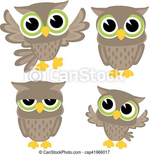 cute owls vector - csp41966017