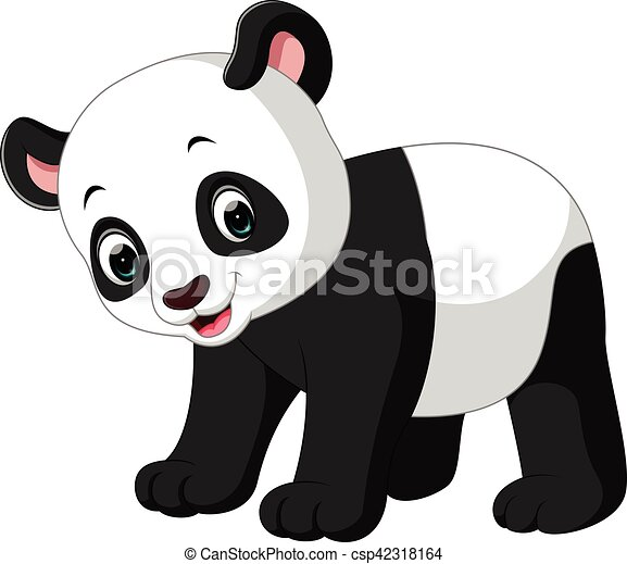 Illustration Of Cute Panda Cartoon