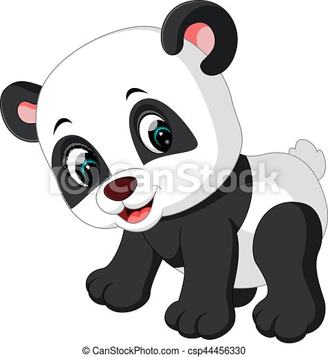 Illustration Of Cute Panda Cartoon Vectors
