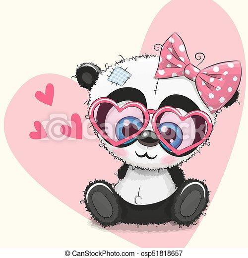 Cute Panda Girl In Sunglasses