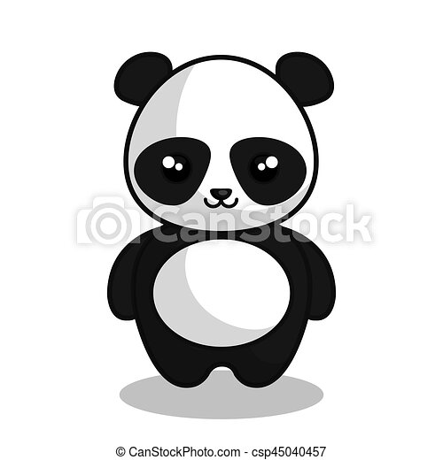 Cute Panda Kawaii Style