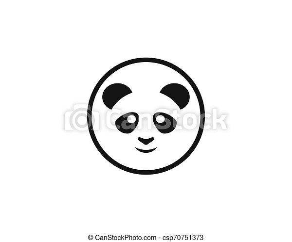 Cute panda logo template vector icon illustration - csp70751373