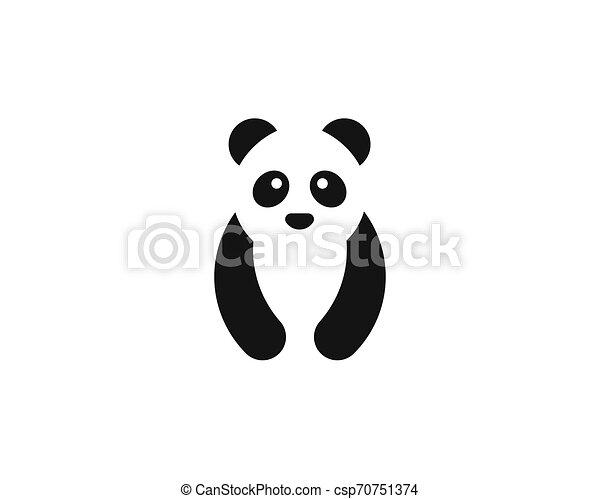 Cute panda logo template vector icon illustration - csp70751374
