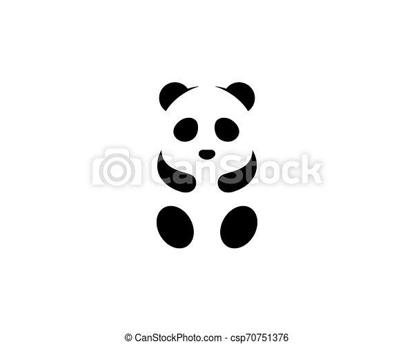 Cute panda logo template vector icon illustration - csp70751376