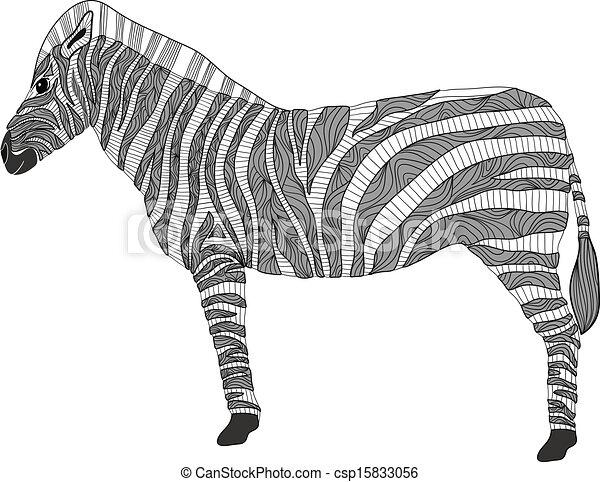 Cute pattern zebra - csp15833056