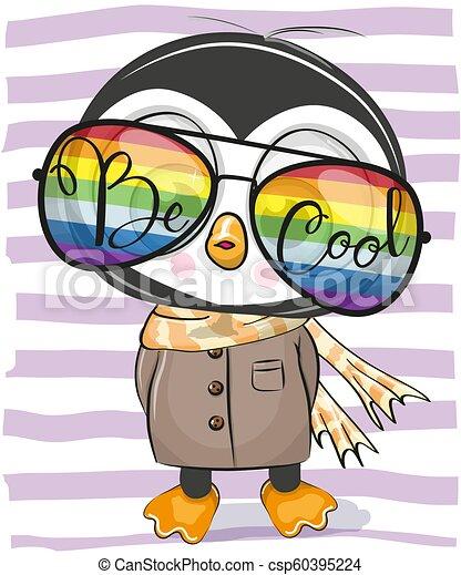 Cute Penguin with sun glasses - csp60395224