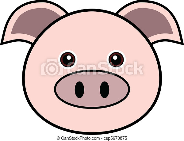 cute pig vector cute animal faces in one of 25 of them clipart rh canstockphoto com Funny Pig Face Clip Art Pig Face Clip Art Black and White