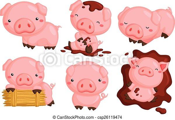 Cute Pigs - csp26119474