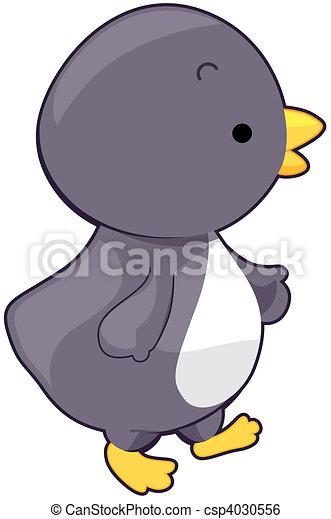 cute, pingüim - csp4030556