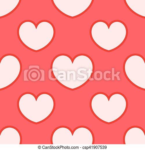 pink hearts pattern