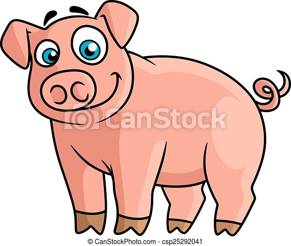 cute pink piggy in cartoon style cute cartoon pink pig with rounded