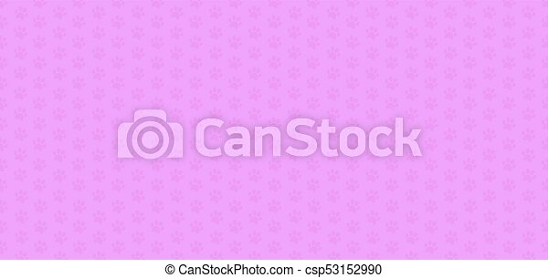 Cute Pink Seamless Pattern Of Animal Paws Vector Illustration Banner Template Wallpaper