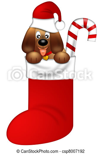 cute puppy dog with red santa hat in stocking cute puppy clip rh canstockphoto com puppy dog clipart png puppy dog pictures clip art