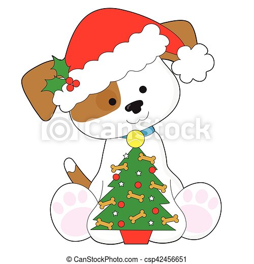 cute puppy santa a cute little puppy wearing a santa hat clipart rh canstockphoto com cute santa hat clipart cute santa clipart